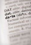 dictionary page with definition of the word data somewhat out of focus